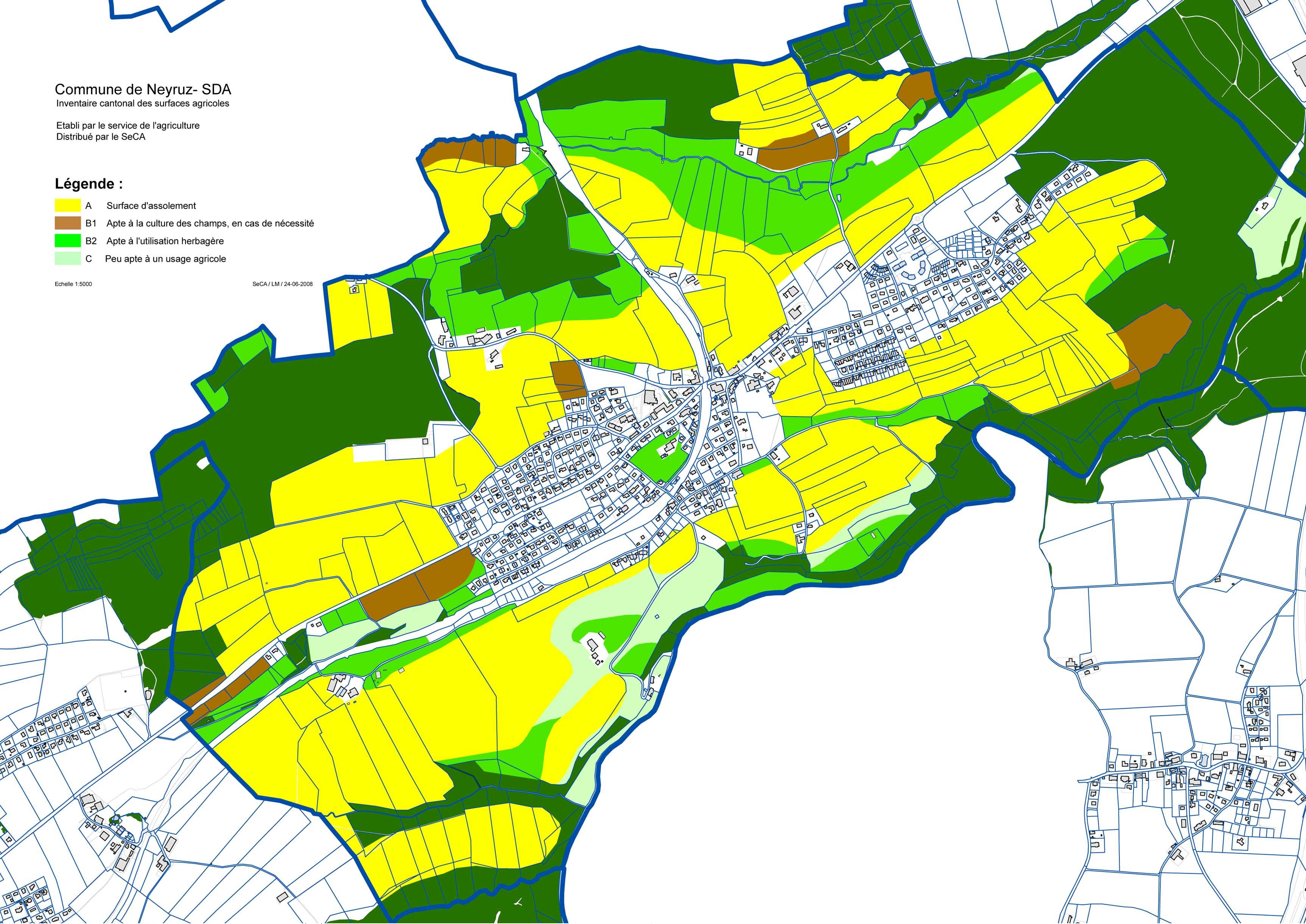 Commune de neyruz plan de zones administration en ligne for Zone commune